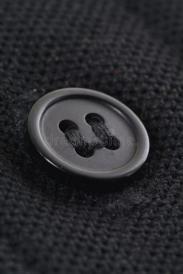 黑色按钮 库存照片