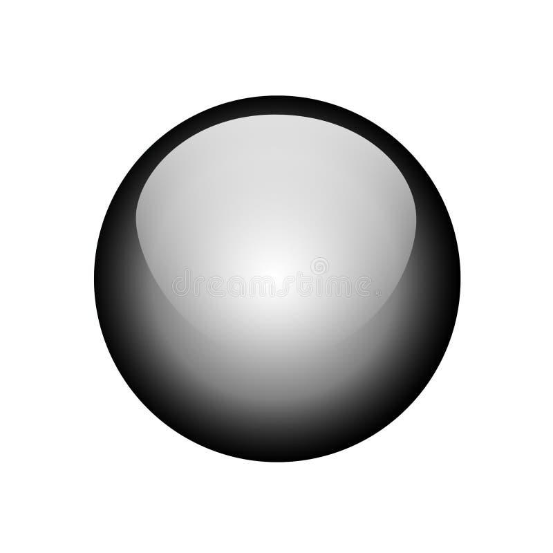 黑色按钮 免版税图库摄影
