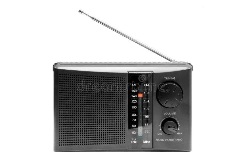黑色收音机 免版税库存图片