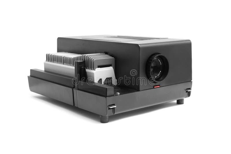 黑色放映机 免版税库存照片