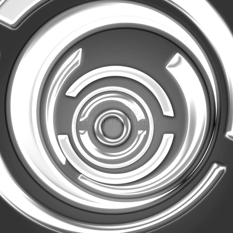 黑色数字式白色 向量例证