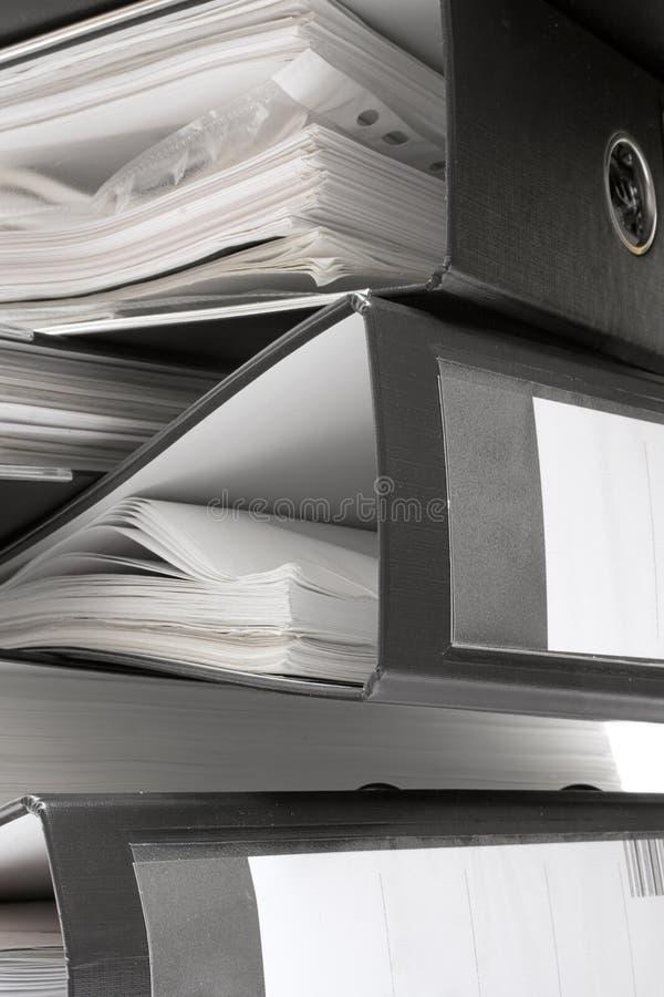 黑色文件夹栈 免版税图库摄影