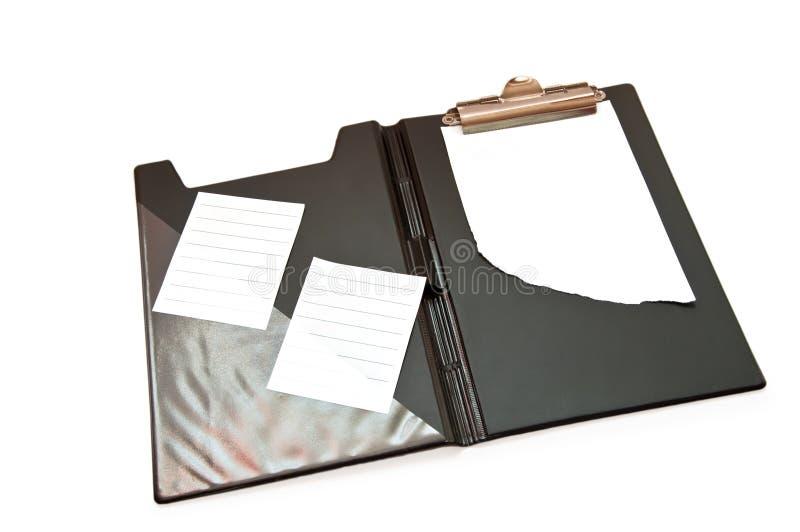 黑色文件夹 免版税库存图片