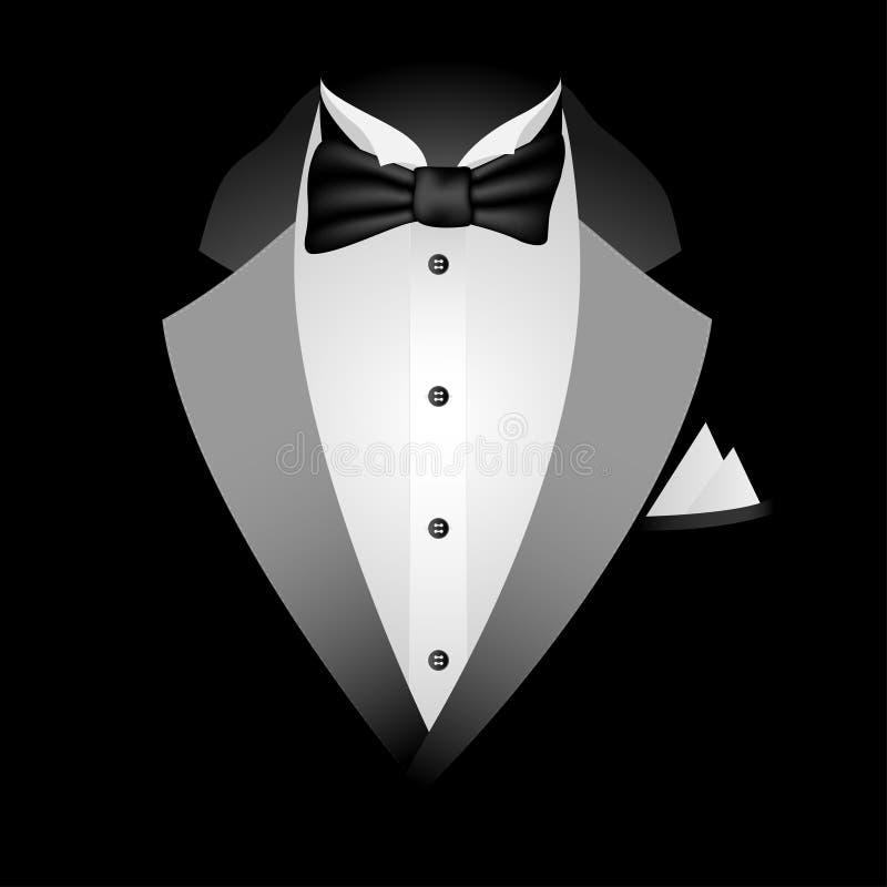 黑色无尾礼服 向量例证