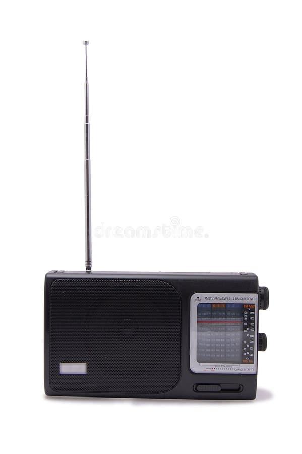 黑色无线电接收机 免版税库存照片