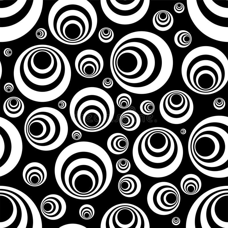 黑色无缝的白色 库存例证