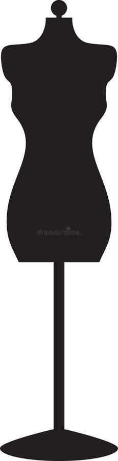 黑色时装模特 库存例证