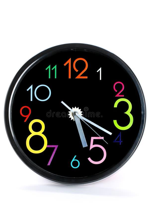 黑色时钟 库存图片