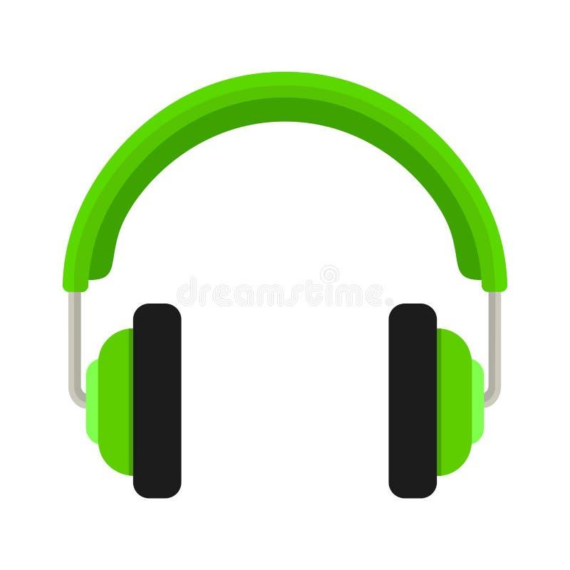 黑色更改耳机图标向量白色 平的设计传染媒介例证概念 向量例证