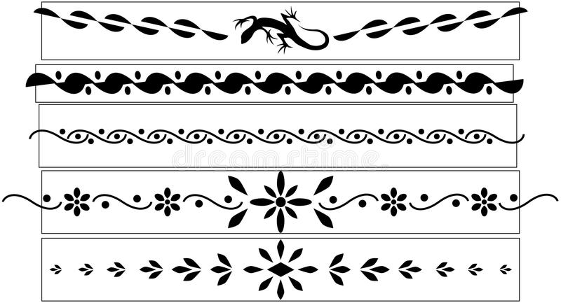 黑色木套鞋tatoo向量 皇族释放例证