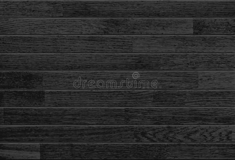 黑色木背景 向量例证