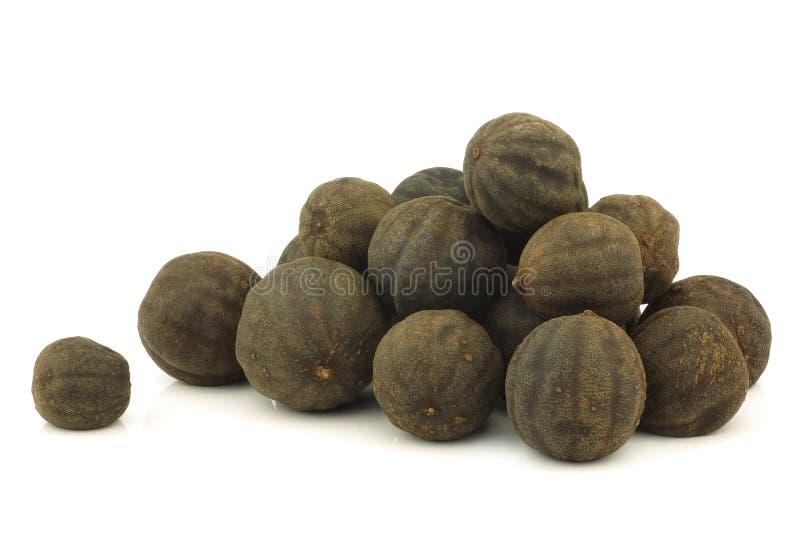 黑色束干limefruit 免版税库存照片