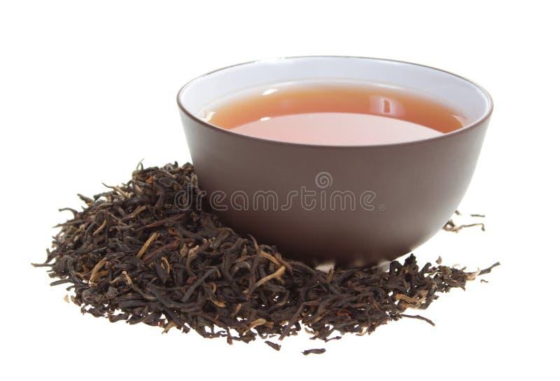 黑色杯子茶 图库摄影