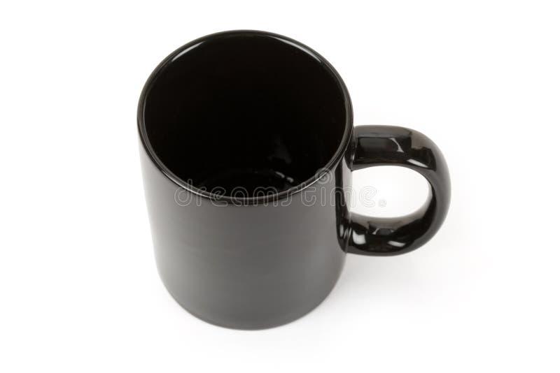 黑色杯子 免版税库存照片