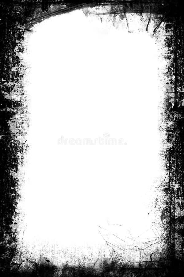 黑色构成白色 库存例证