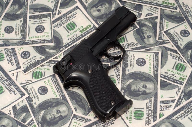 黑色枪 库存图片