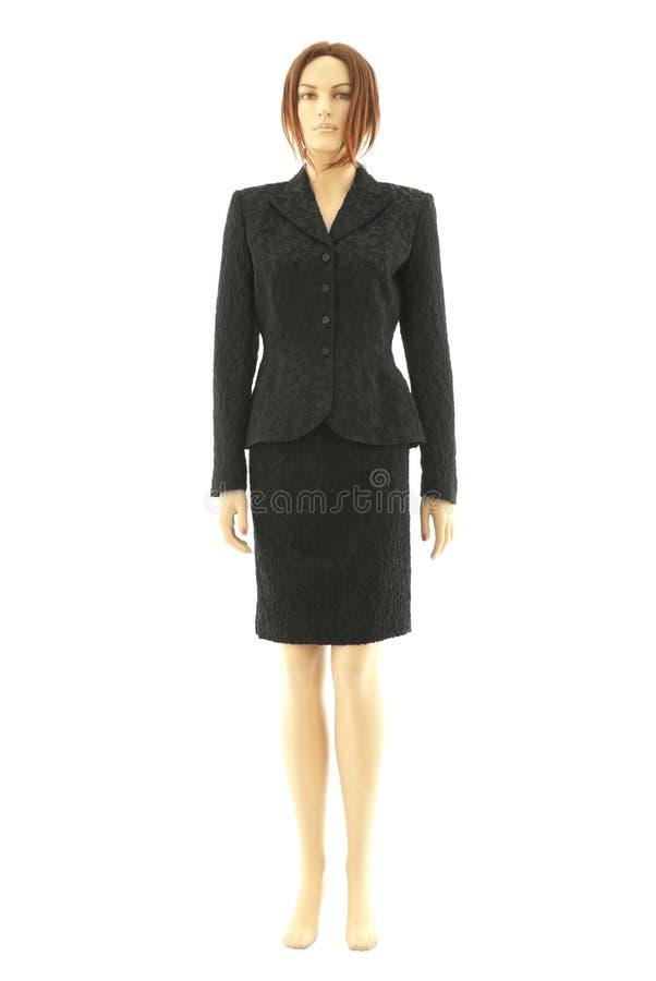 黑色查出的时装模特诉讼 库存照片