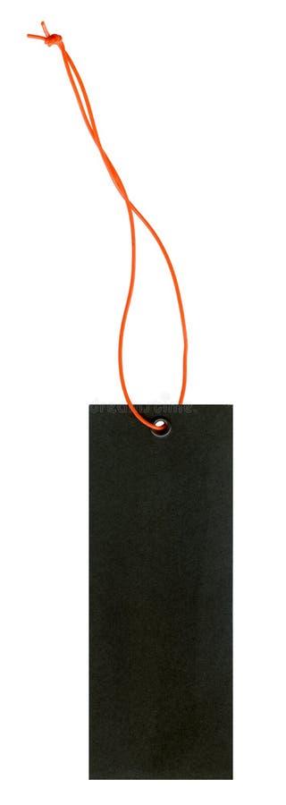 黑色标签鞋带桔子 免版税库存图片