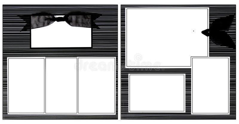 黑色框架丝带剪贴薄模板 皇族释放例证