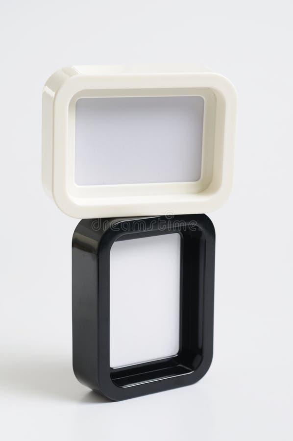 黑色框架照片白色 免版税图库摄影