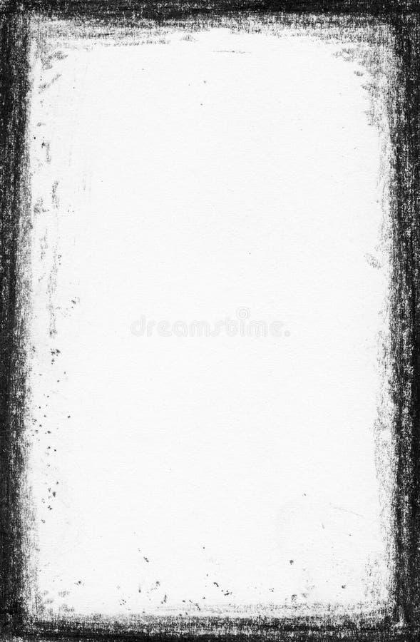 黑色框架grunge handpaint喂res 库存图片