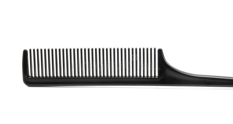 黑色梳子头发 免版税库存图片