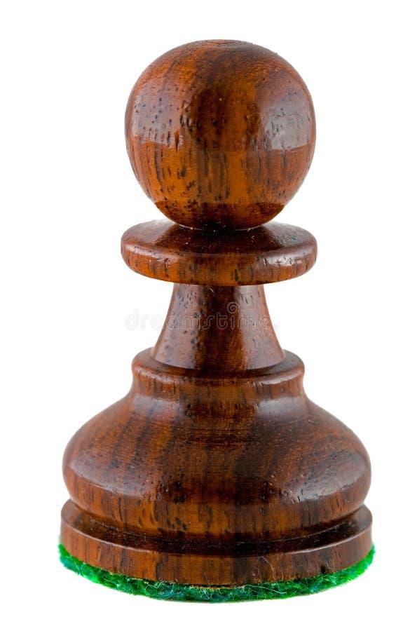 黑色棋典当部分 免版税库存图片