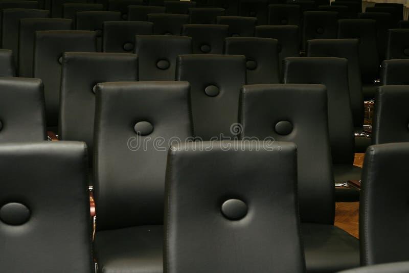 黑色椅子位子 免版税库存照片