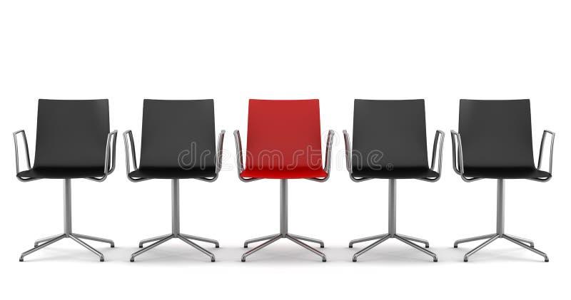 黑色椅子椅子查出办公室红色 皇族释放例证