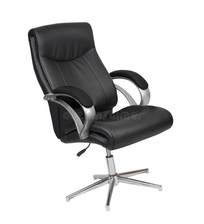 黑色椅子皮革办公室 图库摄影