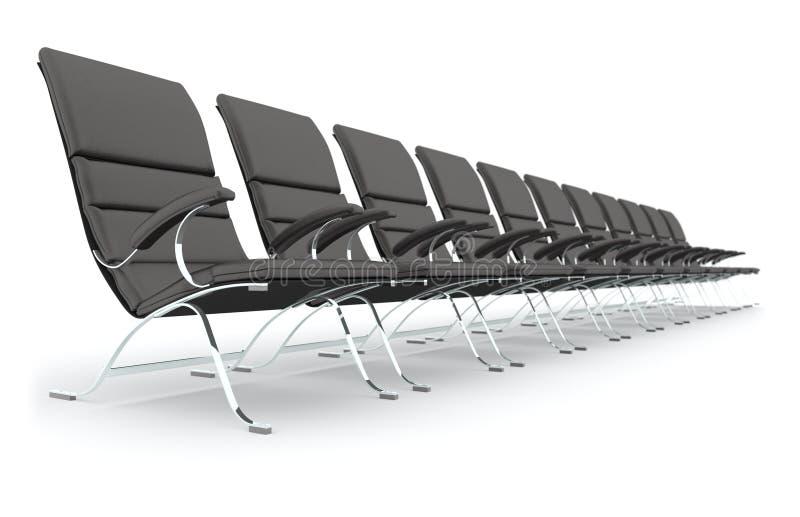 黑色椅子皮革 向量例证