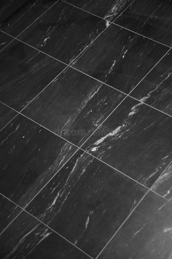 黑色楼层大理石 免版税库存图片
