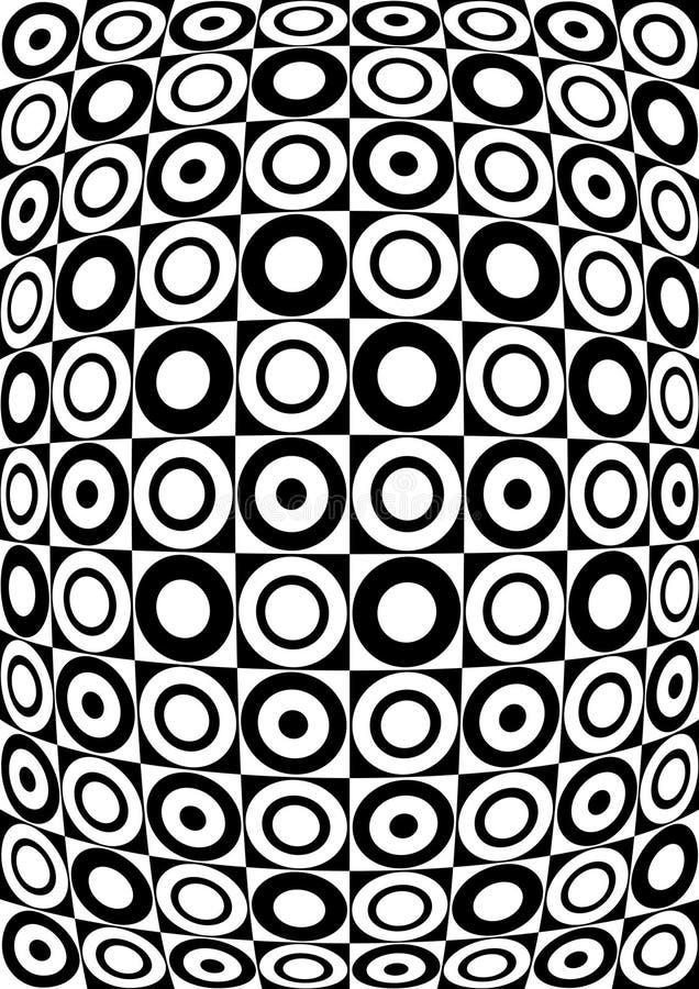 黑色模式减速火箭的白色 库存例证