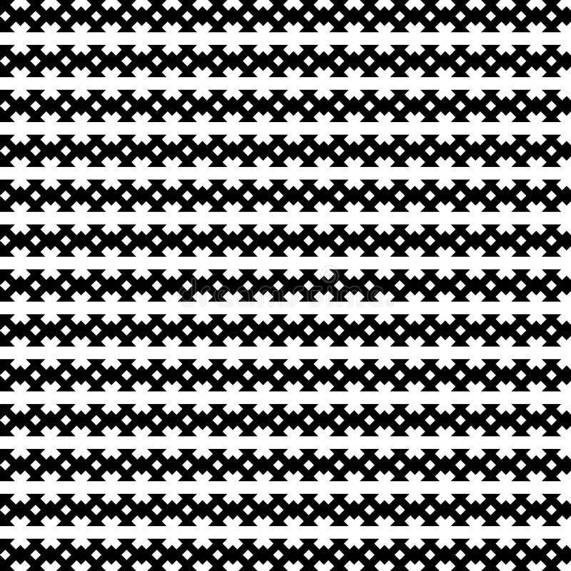 黑色模式无缝的向量白色 现代时髦的纹理 库存例证