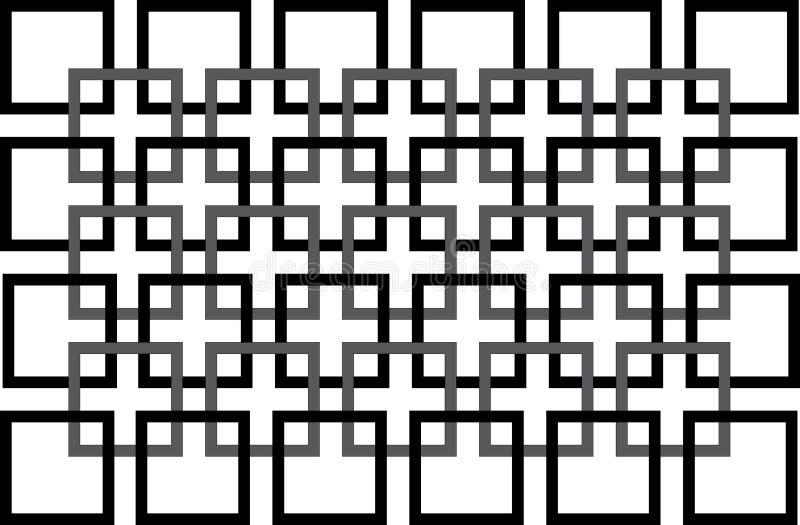 黑色模式无缝的方形白色 向量例证