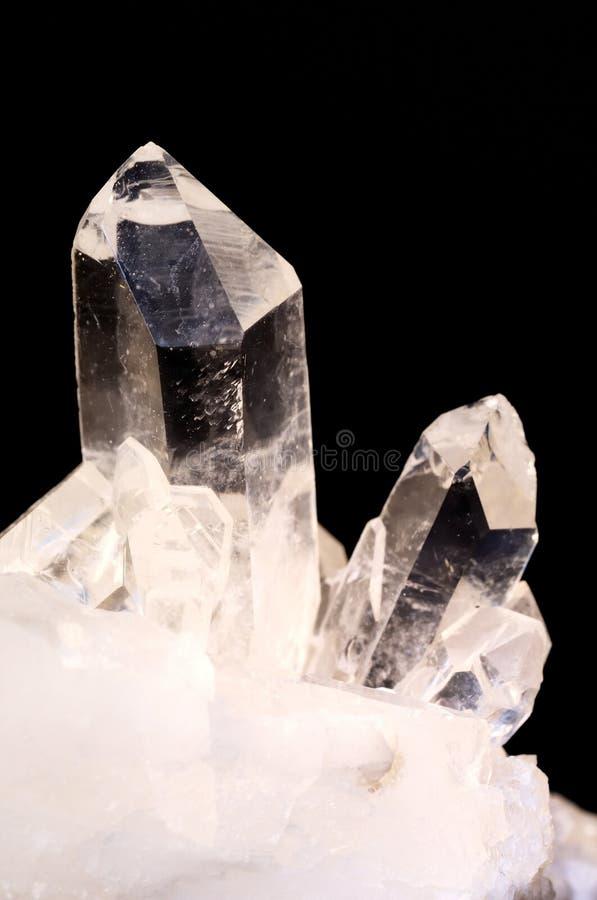 黑色水晶石英 库存照片