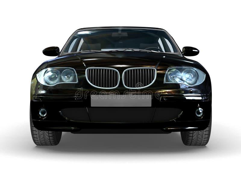 黑色汽车体育运动 库存例证