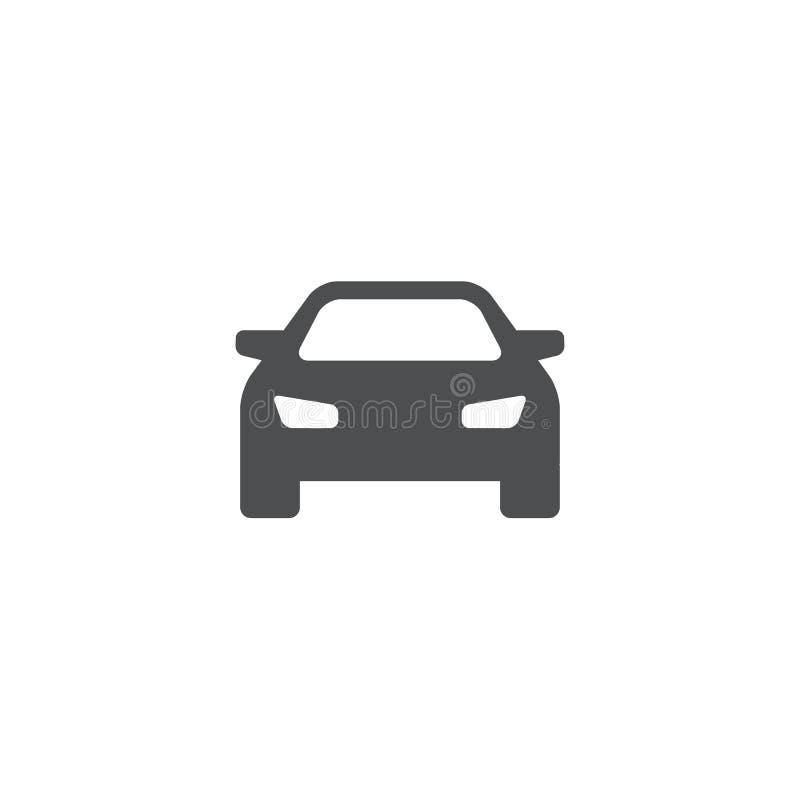 黑色汽车更改图标向量白色 皇族释放例证