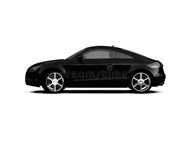 黑色汽车查出的侧视图 皇族释放例证