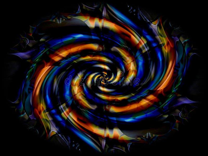 黑色液体漩涡旋涡 图库摄影