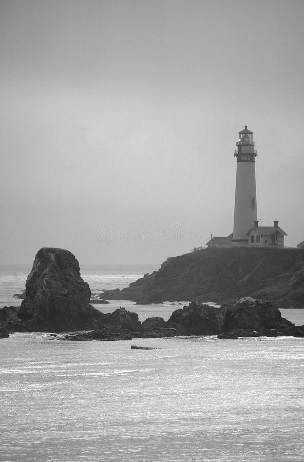 黑色灯塔白色 库存照片
