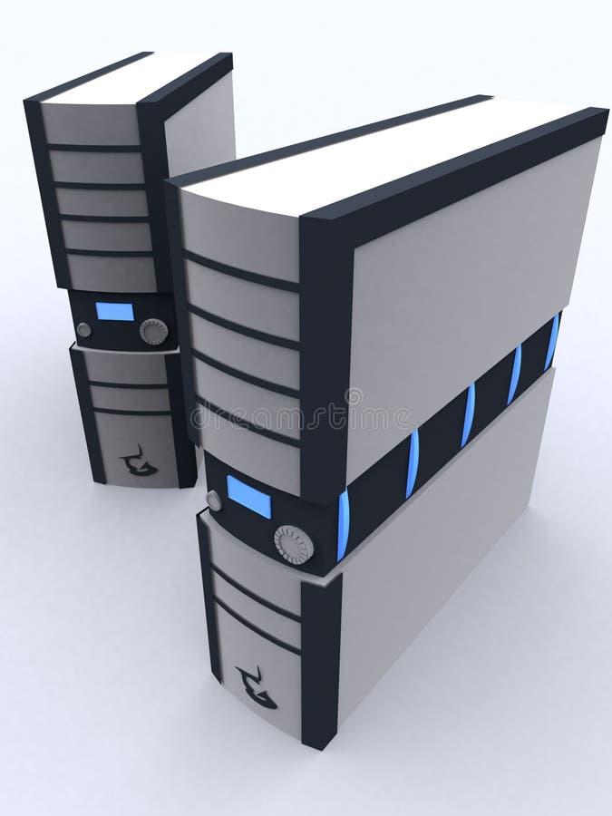 黑色灰色个人计算机二 向量例证