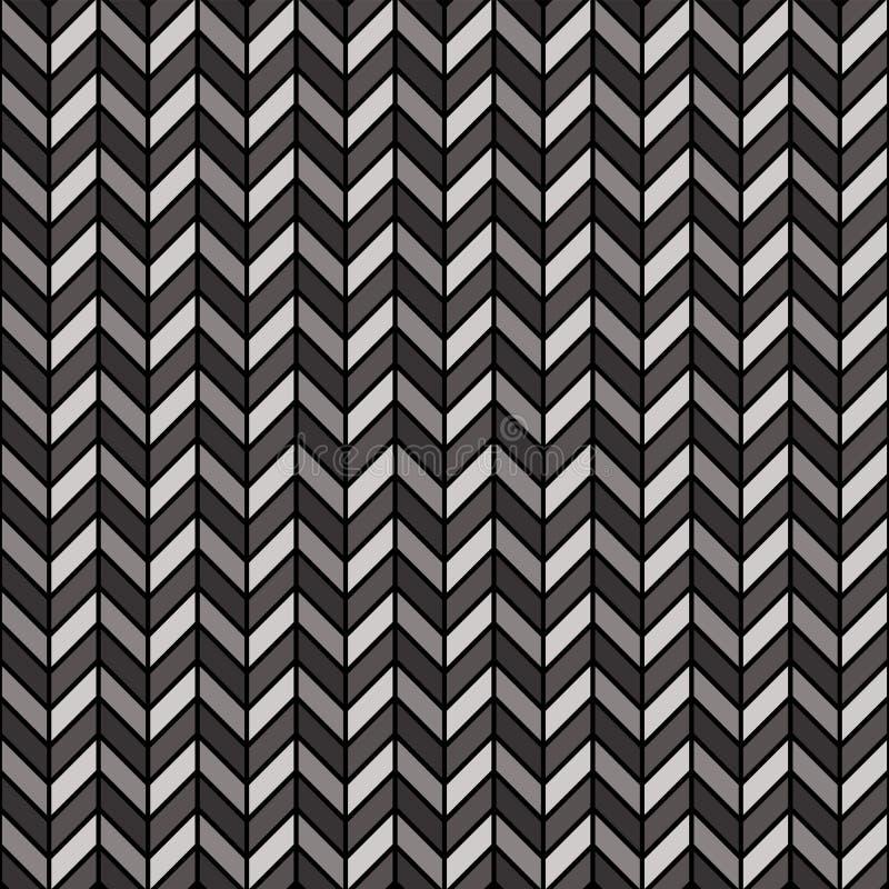 黑色灰色人字形模式 向量例证