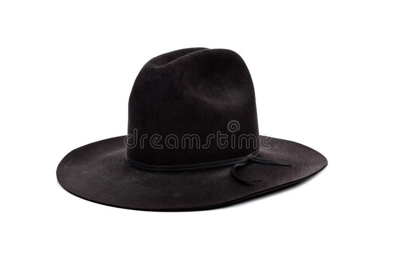 黑色牛仔帽白色 库存图片