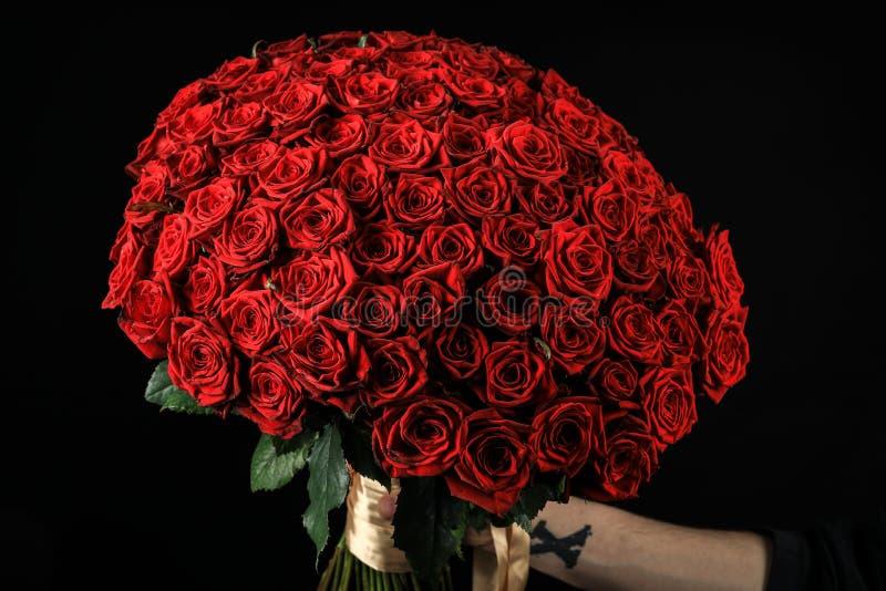 黑色玫瑰花 免版税库存图片