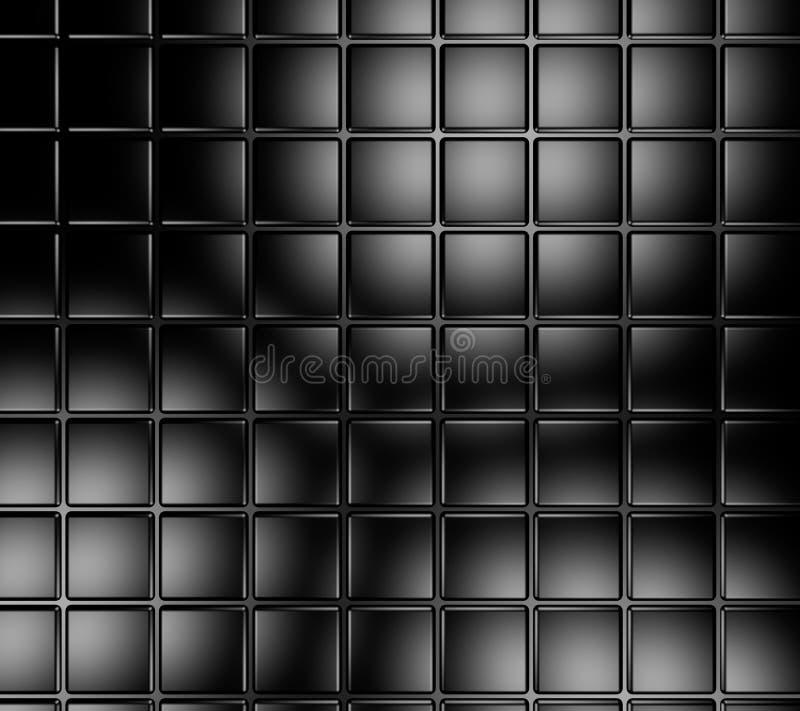 黑色瓦片 库存例证