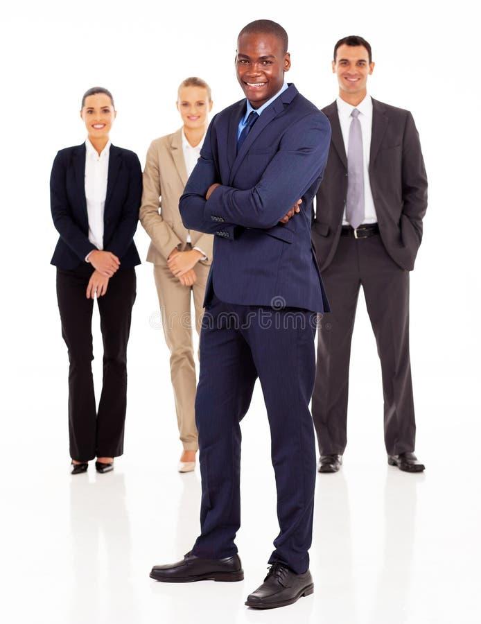 黑色生意人小组 免版税库存照片