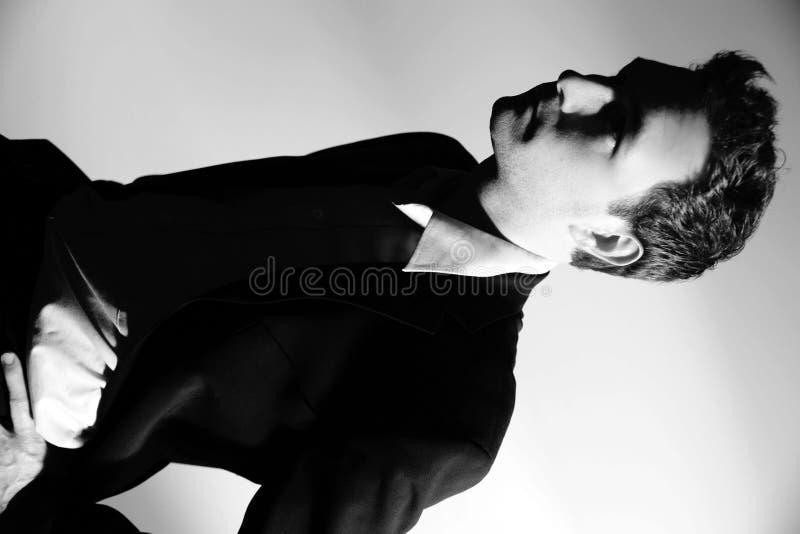 黑色生意人白色 免版税库存图片