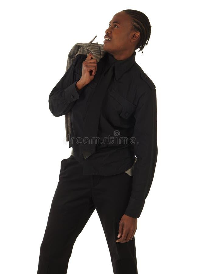 黑色生意人 图库摄影