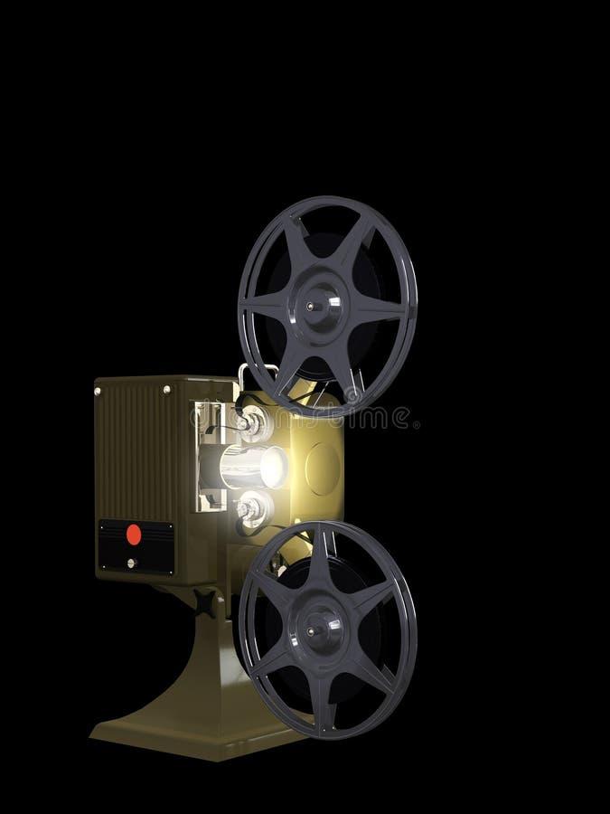 黑色电影放映机 向量例证